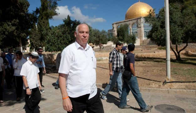Agriculture Minister Uri Ariel visiting the Temple Mount in 2012.
