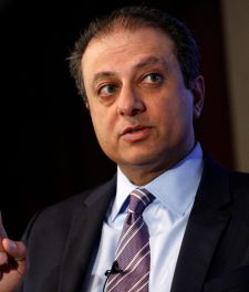 File Photo: U.S. Attorney for the Southern District of New York Preet Bharara speaks during a Reuters Newsmaker event in New York City, U.S., July 13, 2016.