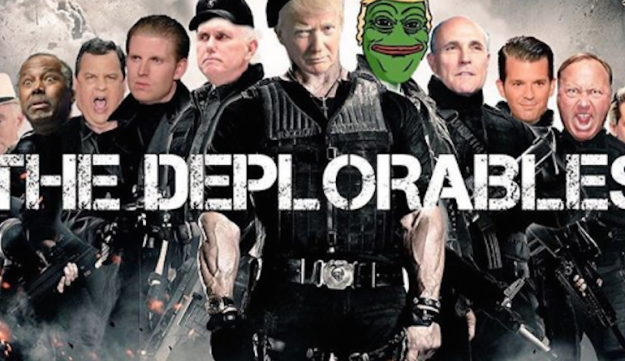 A parody posted by Donald Trump Jr. and including Pepe the Frog, a symbol adopted by white supremacists. Instagram, Sept. 11 2016