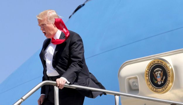 President Donald Trump arrives at Orlando International Airport for a visit to St. Andrew Catholic School in Orlando, Fla. March 3, 2017.