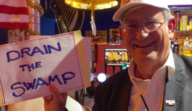 Chair of Republicans Overseas Marc Zell at an election watch-party in Jerusalem, November 8, 2016.