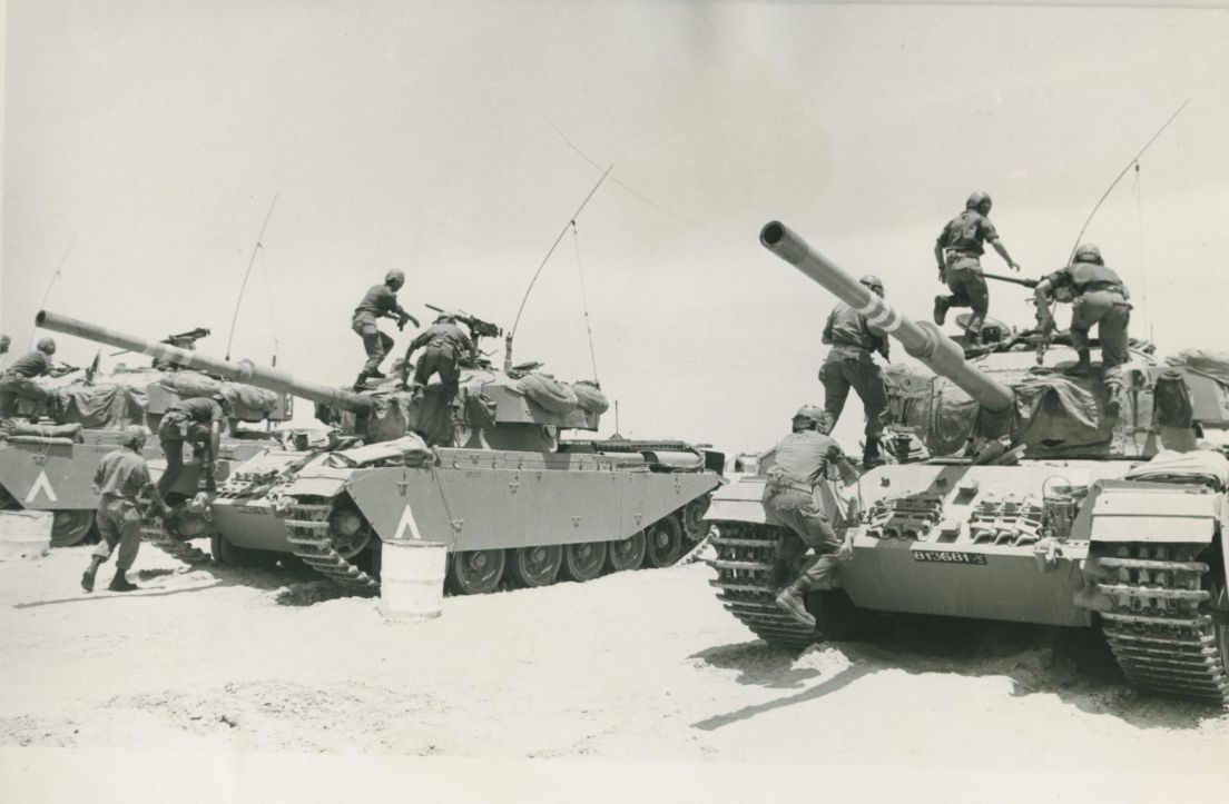 Israeli Tanks During The Six Day War In 1967 Ap