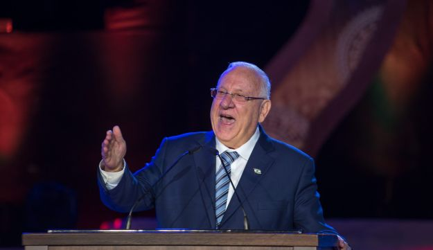 President Reuven Rivlin speaking at the closing Jerusalem Day ceremony on Ammunition Hill in Jerusalem, May 24, 2017.