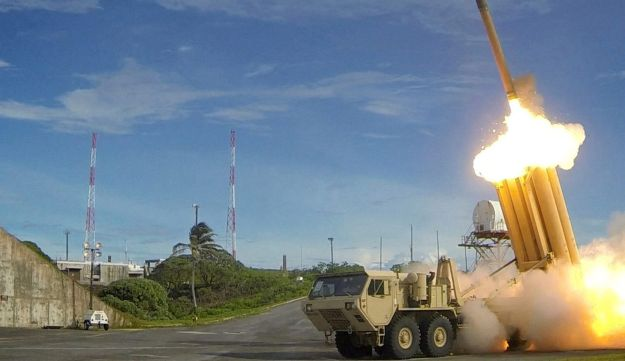 The Terminal High Altitude Area Defense (THAAD) missile.