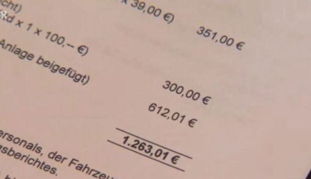 Bill for  1,263 euro from German town of Quarnbek for pulling 'Mossad agents' out of the mud
