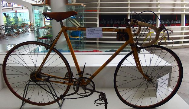 Cycling legend Gino Bartali's bicycle.