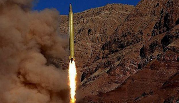 A ballistic missile is launched and tested in an undisclosed location, Iran, in this handout photo released by Farsnews on March 9, 2016.