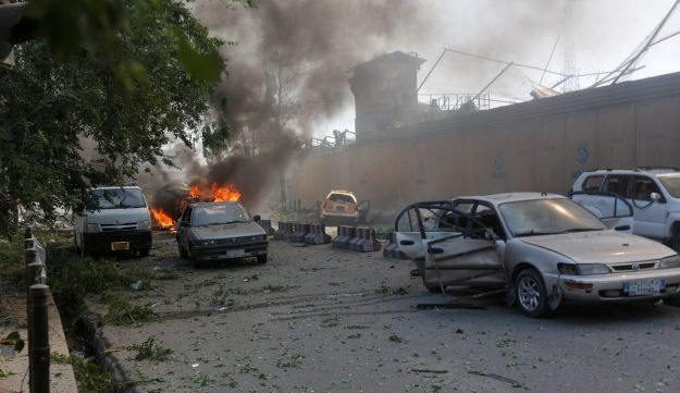 Damaged cars are seen at the site of a blast in Kabul, Afghanistan, May 31, 2017.