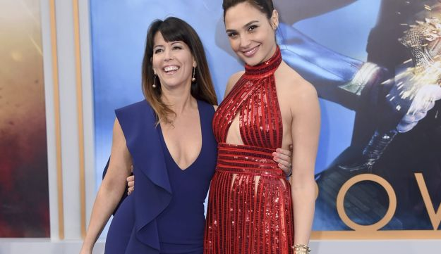 "Director Patty Jenkins, left, and Gal Gadot arrive at the world premiere of ""Wonder Woman"" at the Pantages Theatre on Thursday, May 25, 2017, in Los Angeles."