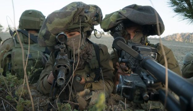 Israeli soldiers in a exercise in Cyprus