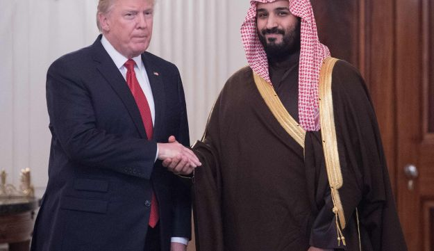 File photo: US President Donald Trump and Saudi Crown Prince Mohammed bin Salman in the White House on March 14, 2017.