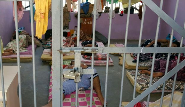 Prisoners lie in a newly renovated cell in Aden Central Prison, known as Mansoura, Aden, Yemen, May 9, 2017.