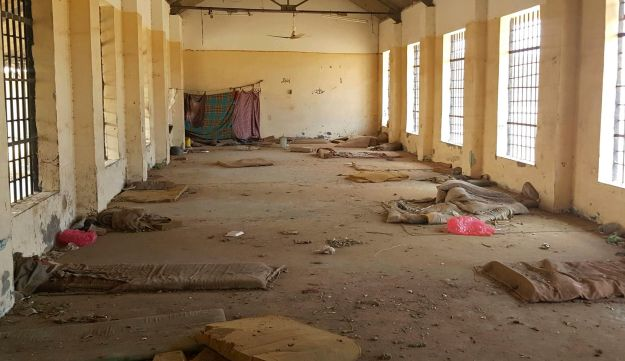 A deserted cell in the public section of Aden Central Prison, Aden, Yemen, May 9, 2017.