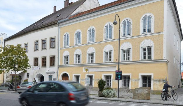 This Sept. 27, 2012 file picture shows an exterior view of Adolf Hitler's birth house, front, in Braunau am Inn, Austria.