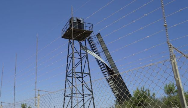 A photo of a Hezbollah watchtower that Israel has submitted to the United Nations.