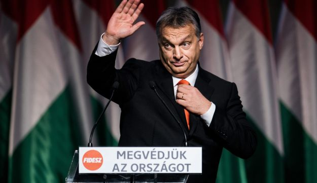 United by a shared hatred of Arabs and Muslims, radical European right-wingers offer the Israeli right legitimization: Hungarian PM Viktor Orban at the Fidesz Party congress, Budapest. Dec 13, 2015