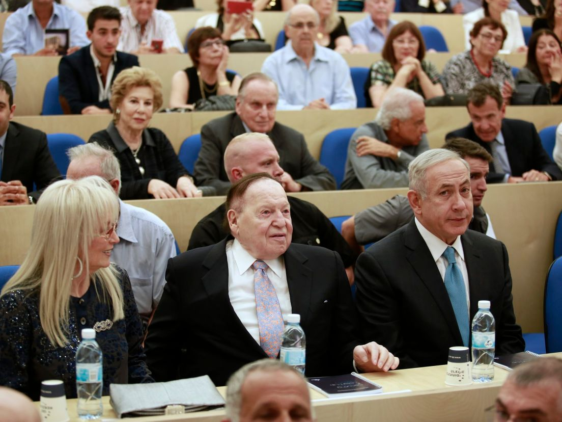 Image result for photos sheldon adelson trump