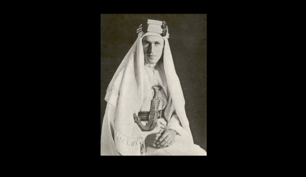 Lieutenant Colonel Thomas Edward Lawrence, better known as Lawrence of Arabia.