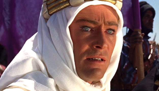 Peter O'Toole playing Lawrence of Arabia