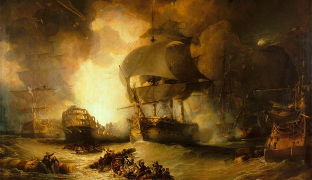 "George Arnald (1763 – 1841) , The Destruction of ""L'Orient"" at the Battle of the Nile, 1 August 1798"