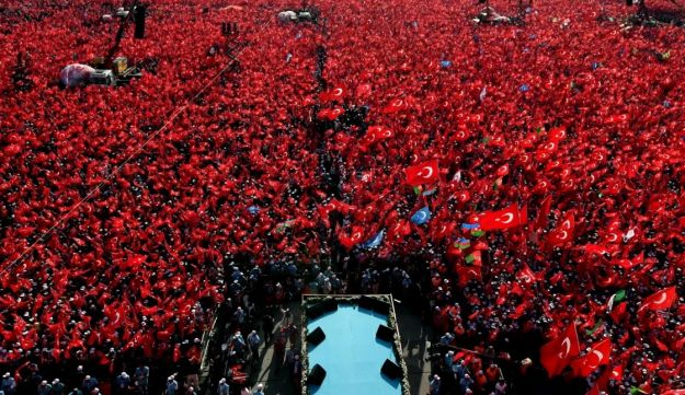 Millions gather at Yenikapi during a rally against the failed military coup of July 15 in Istanbul, Turkey, August 7, 2016.