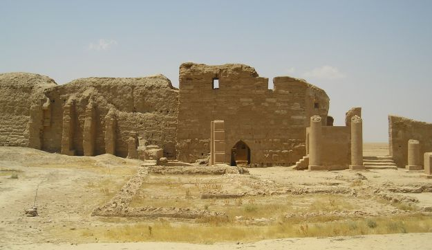 The Temple of Bel in Dura-Europos, a Roman outpost and World Heritage site, before ISIS.