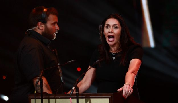 Culture Minister Miri Regev at the Ophir Awards ceremony in Ashdod, September 22, 2016.