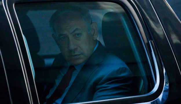 Benjamin Netanyahu leaves Trump Tower after meeting Donald Trump in New York, September 25, 2016.