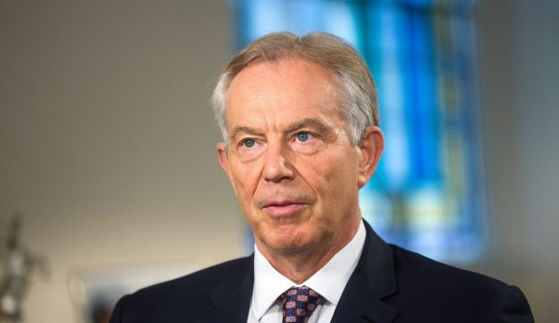 Tony Blair, U.K.'s former prime minster, pauses during a Bloomberg Television interview in London, U.K., on Wednesday, June 8, 2016. Blair said he expects Britain to vote to stay in the European Union, as he defended David Cameron's conduct during the campaign and attacked former London Mayor Boris Johnson for backing a so-called Brexit.