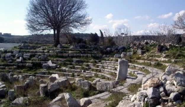 The ancient Odeon in Teos, a city going back some 3,000 years that has provided a wealth of inscriptions carved into stone - including a roughly 2,200-year-old rental contract.
