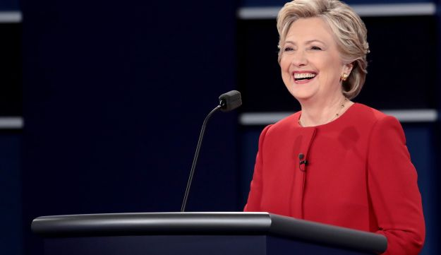 Hillary Clinton at the presidential debate at Hofstra University, September 26, 2016.
