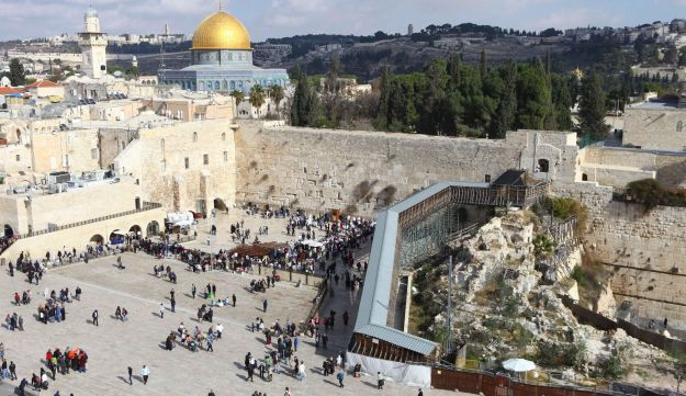 The Western Wall on the Temple Mount.