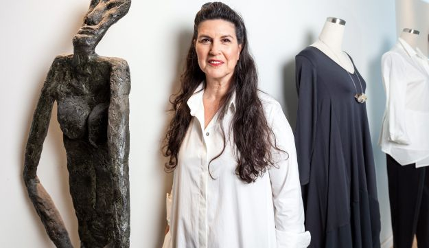 Tsafra Perlmutter, a founder of the sustainable social fashion enterprise co.co.