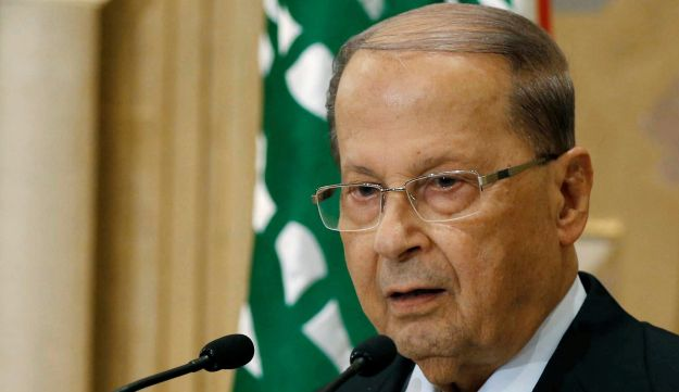 Christian politician and FPM founder Michel Aoun talks during a news conference in Beirut, Lebanon October 20, 2016.