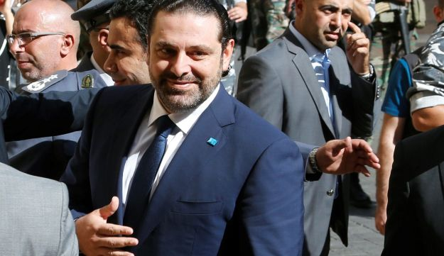 Lebanon's former Prime Minister Saad Hariri walks into the parliament building in Beirut, October 31, 2016.