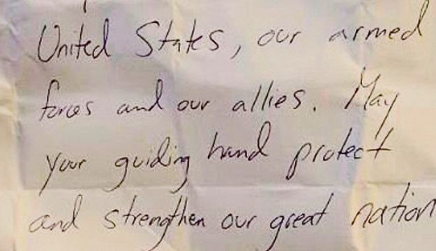 Image of Trump's purported Kotel note