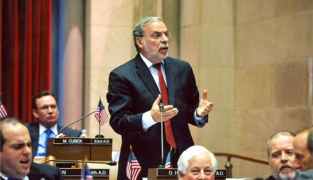 New York State Assemblyman Dov Hikind, an Orthodox Jew, seen in 2015. Though a Democrat, Hikind is a conservative who does not support Clinton.
