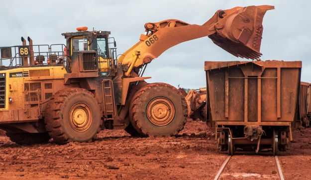 A bauxite mine operated by Compagnie des Bauxites de Guinee (CBG) near Boke, Guinea , Sept. 8, 2015.