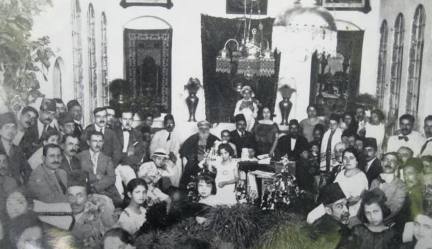 Aaron Zagha and his family in Damascus, probably early 1920's