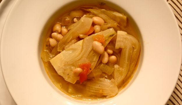 Fennel and bean soup