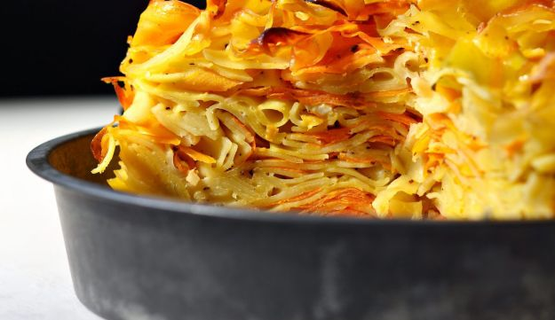 Spicy carrot kugel.