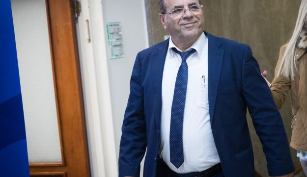 Communications Minister Ayoub Kara at a government meeting in the Prime Minister's Office in Jerusalem.
