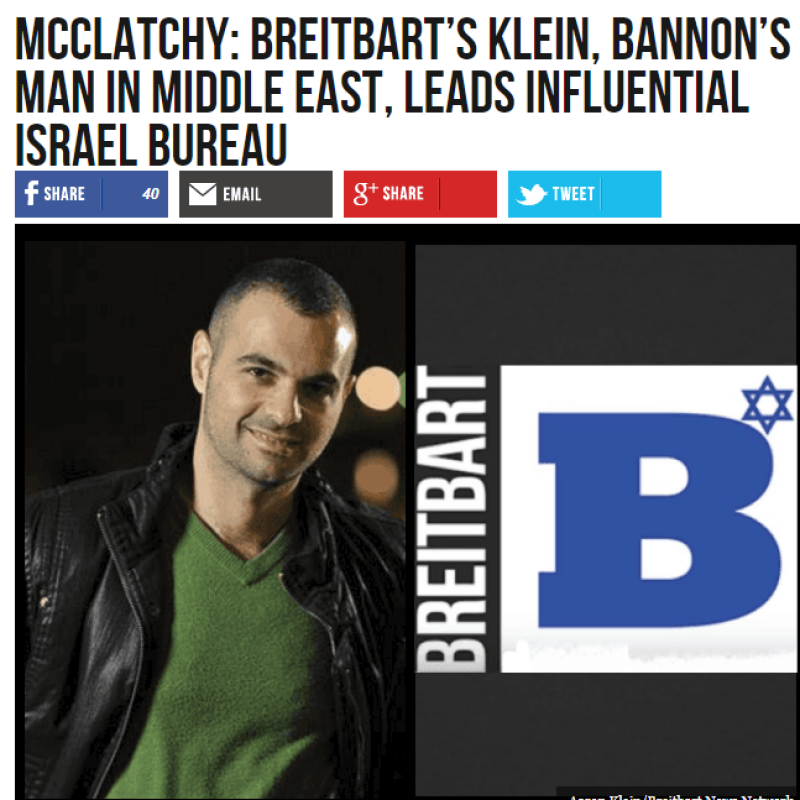 Breitbart's Jerusalem chief reportedly bought thousands of fake