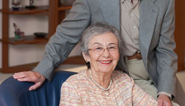 Judy Baron, 89, and her husband, Fred Baron, in 2011. Fred passed away in 2014 at age 91.