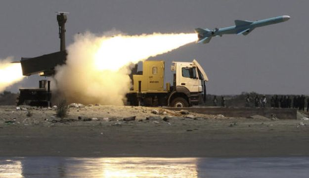 Iranian land to sea Noor missile