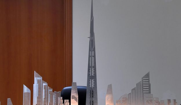 A model of Jeddah Tower is seen at the office of Jeddah Economic Company, in Jeddah, Saudi Arabia, February 6, 2018.