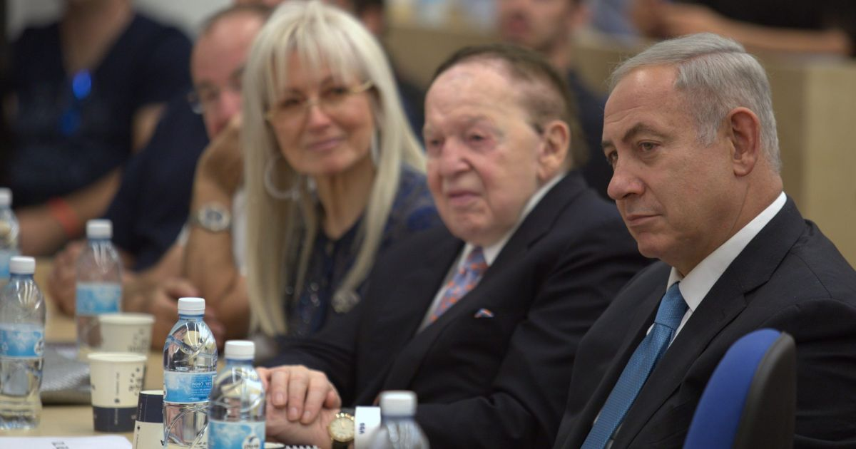 Image result for photos of safra catz and sheldon adelson