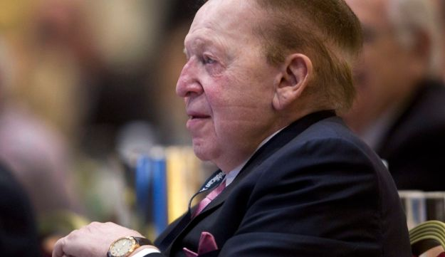 Sheldon Adelson attending the Republican Jewish Coalition Spring Leadership Meeting at the Venetian Resort in Las Vegas, in 2014.