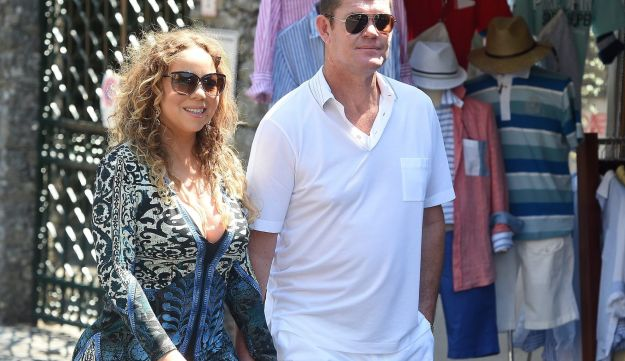 James Packer with then-fiancee Mariah Carey in Italy, June 2015.