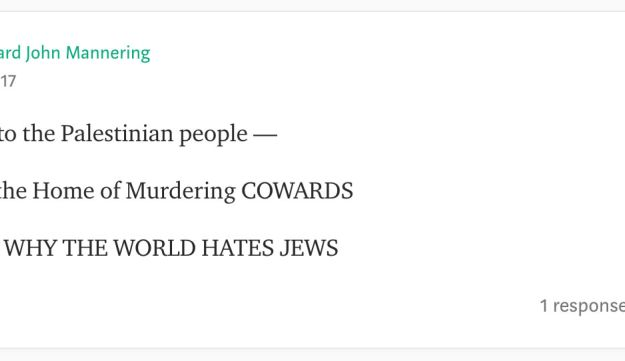Screenshot of comments on Natalie Lifson's Medium post on the Parkland school shooting.